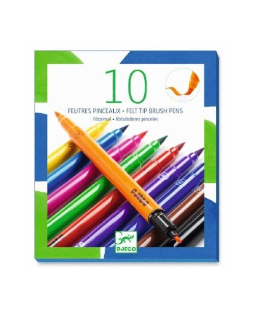10-pennarelli-punta-pennello-djeco